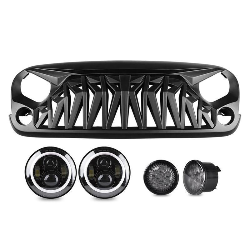 Halo Headlights & Shark Grille & Turn Signal Lights