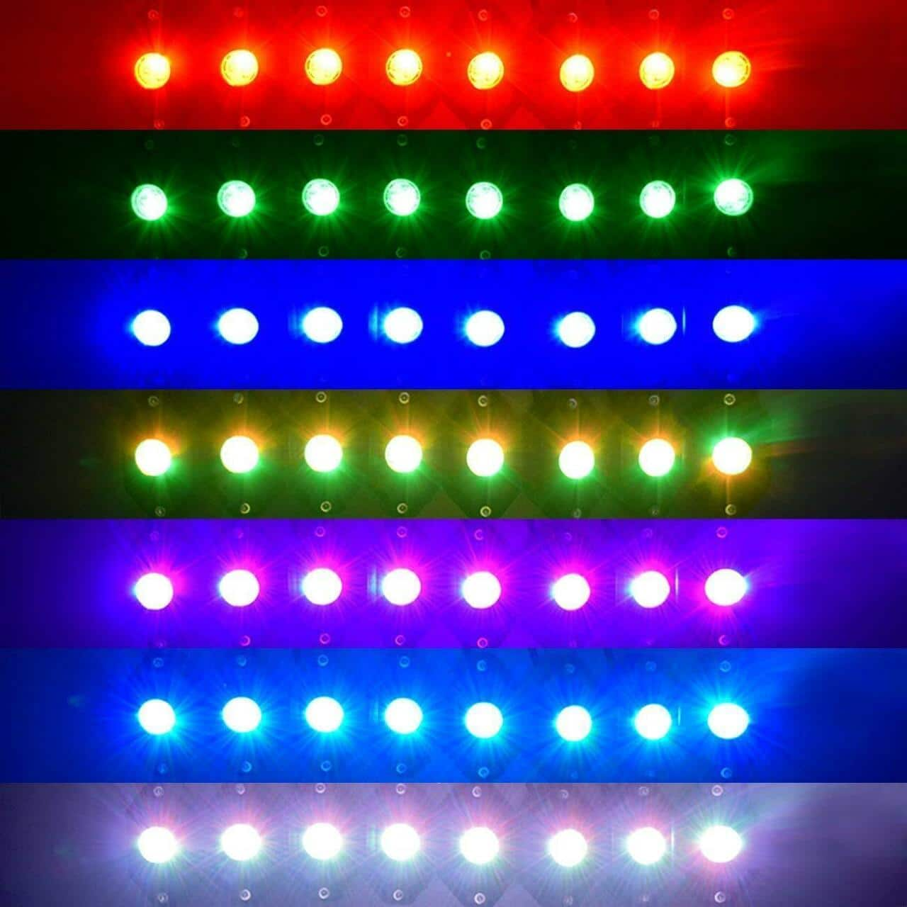 WildRock4x4 Lighting 8 Pods Lights RGB LED Rock Lights Bluetooth Multicolor