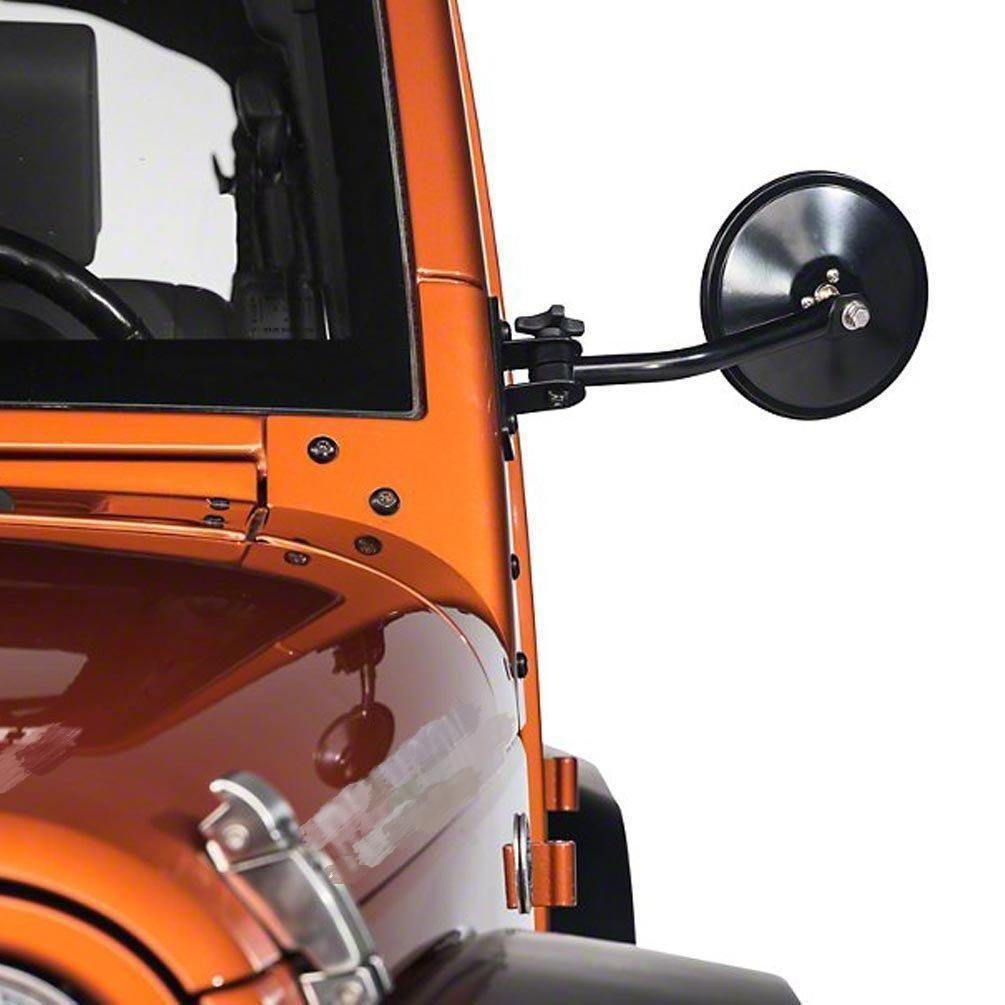 Round Side Mirrors for 97~18 All Jeep Wrangler